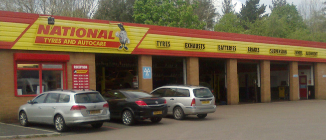 National Tyres and Autocare - Tiverton branch