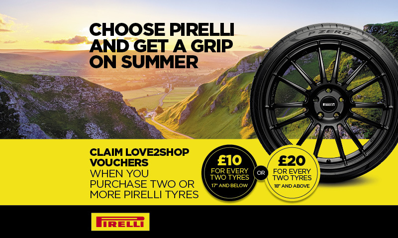 Earn love2shop vouchers when you buy Pirelli tyres at Tyre Shopper!